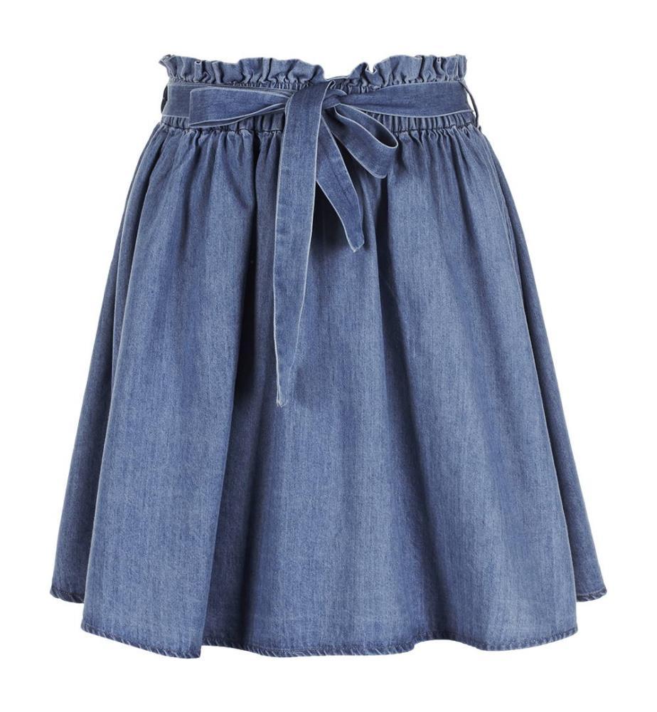 bästa kvalitet online här toppmode Skirt Vila Clothes Eja - Blue - Shorts and Skirts - Vila Clothes ...