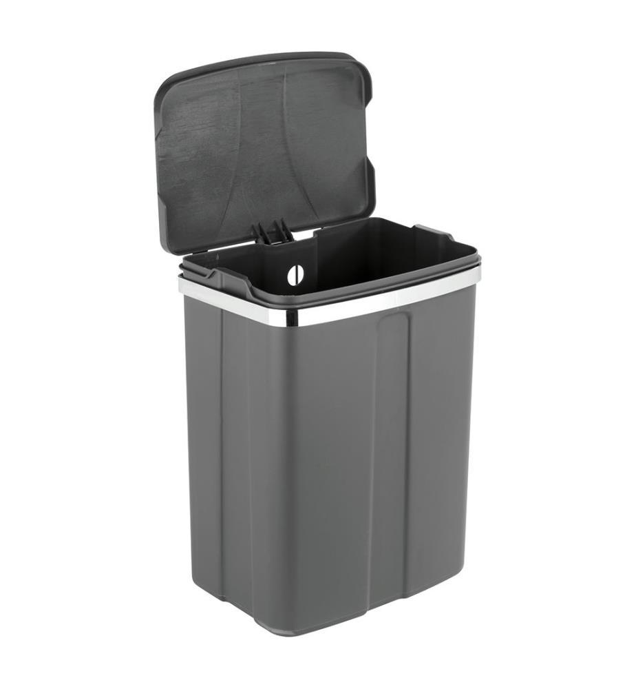 wenko  poubelle de porte 12 gris 12 l  nettoyage
