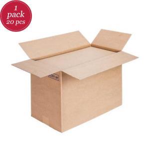 Faltkartons einwellig, Premium, 590 x 390 x 330 mm, 20 Stück