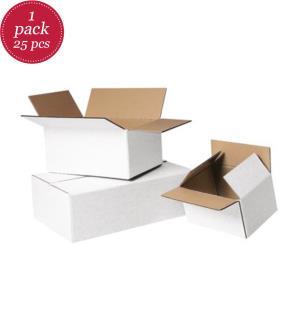 Faltkartons Premium 1-wellig weiss 290 x 190 x 180 mm  - 25 Stück